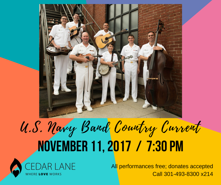 graphic of upcoming US Navy Band Country Current Concert