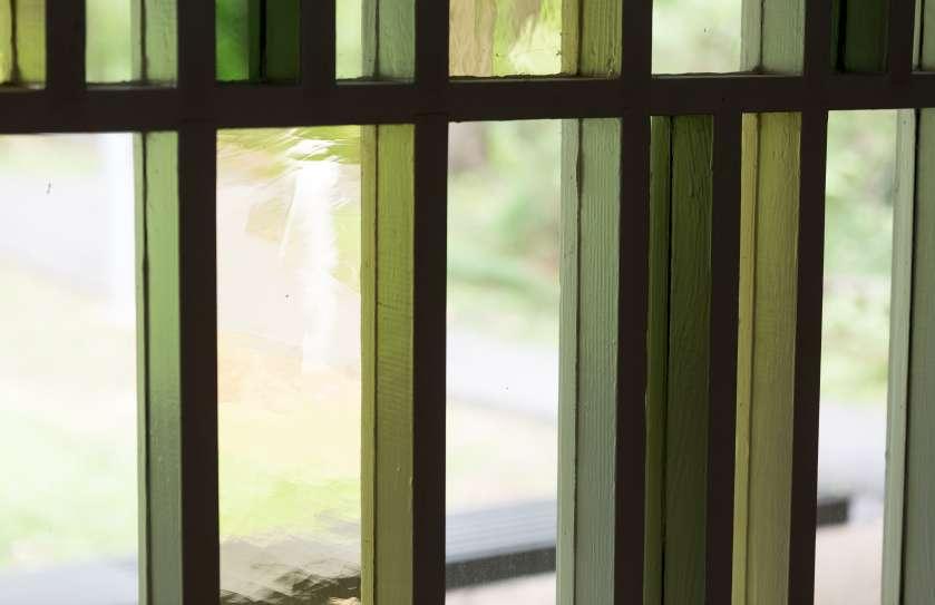Cedar lane windows in the sanctuary