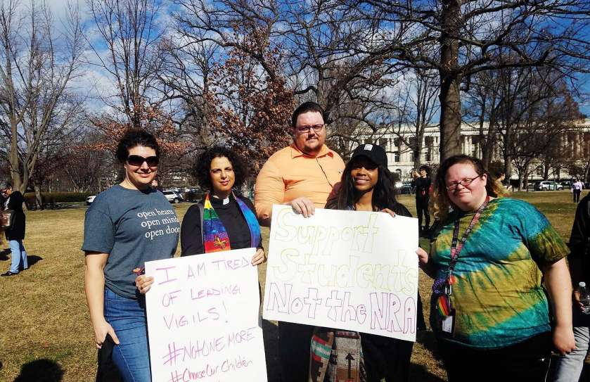 Cedar Lane members and staff at the Enough is Enough youth-led rally in Washington, DC February 19, 2018