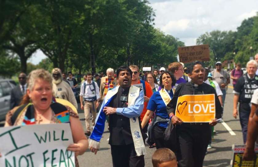 UU ministers at the Minister's March for Justice, August 2017