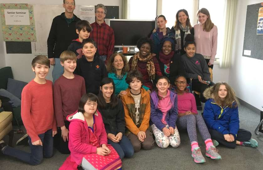 Middle Schoolers with Humans Rights Workers February 2018
