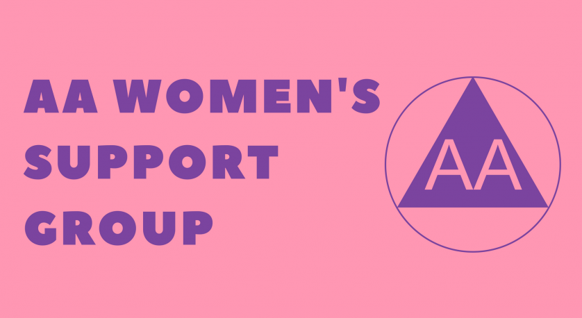 graphic for AA women's group that meets at Cedar Lane on Saturdays from 4 to 5 pm