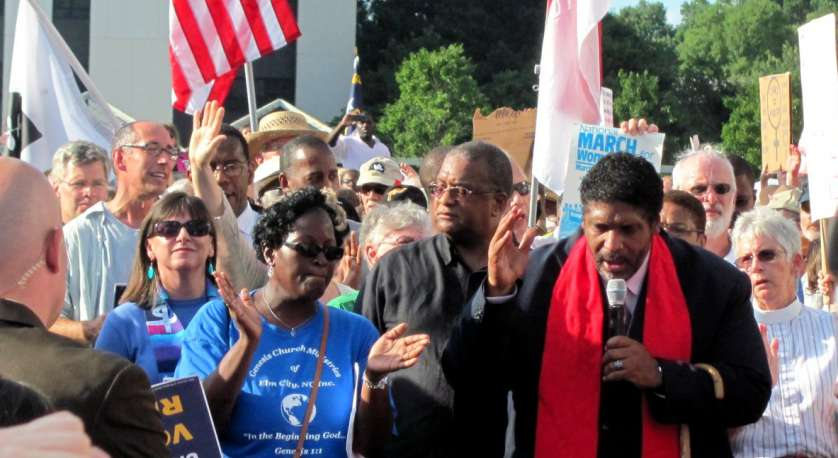 rev. william barber at Moral Monday event as part of the Poor People's Campaign: A National Call for Moral Revival