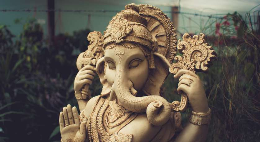 photo of a statue of the Hindu god, Ganesha