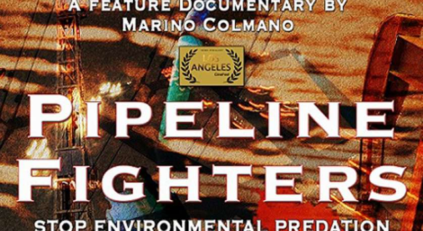 graphic for documentary Pipeline Fighters