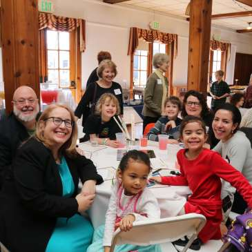 photos of Cedar Lane members at the Building Our Vision Kick-Off Luncheon on March 3, 2018