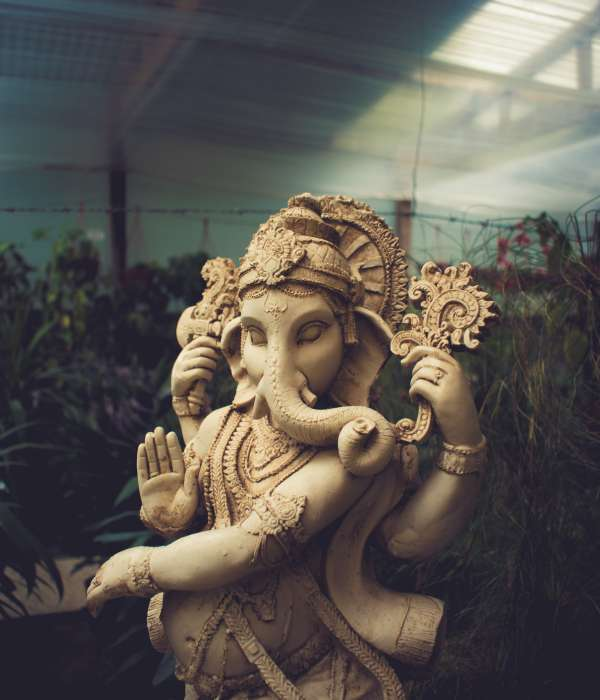 photo of a statue of the Hindu god, Ganesha