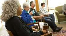 soul matter group in the library talking